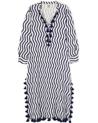 Figue - Paolina Tasseled Printed Cotton-voile Kaftan - Lyst