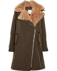 Moncler - Aucuba Reversible Shearling And Twill Down Parka - Lyst