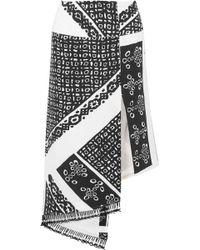 Altuzarra - Lumieres Asymmetric Tasseled Printed Silk Crepe De Chine Skirt - Lyst