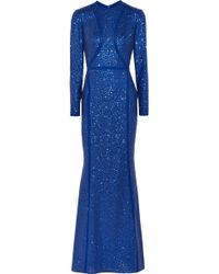 Elie Saab - Sequined Silk-blend Tulle Gown - Lyst