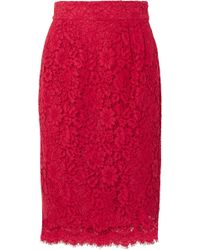 J.Crew - Lace Pencil Skirt - Lyst
