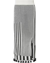 Altuzarra - Spire Tasseled Ribbed Stretch-knit Skirt - Lyst