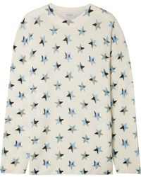 Equipment - Bryce Oversized Printed Cashmere Jumper - Lyst