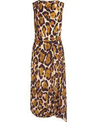 Vivienne Westwood Anglomania - Vasari Leopard-print Jersey Midi Dress - Lyst