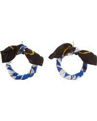 Balenciaga - Printed Silk-twill Earrings - Lyst