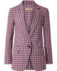 Burberry - Checked Cotton-blend Blazer - Lyst