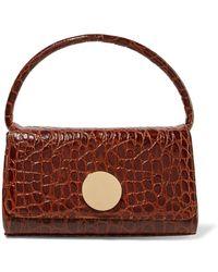 0b716c6e4580 Little Liffner - Baguette Croc-effect Leather Shoulder Bag - Lyst