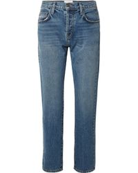 Current/Elliott - The Original Straight Cropped Mid-rise Jeans - Lyst