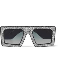Anna Karin Karlsson - Mother Beep D-frame Crystal-embellished Acetate Sunglasses - Lyst