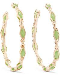 Rosantica - Destino Gold-tone Crystal Hoop Earrings - Lyst