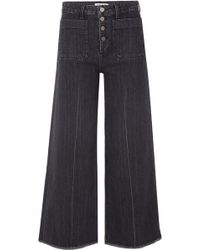 Elizabeth and James - Carmine Frayed High-rise Wide-leg Jeans - Lyst