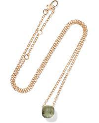 Pomellato - Nudo 18-karat White And Rose Gold Prasiolite Necklace - Lyst