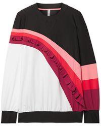 NO KA 'OI - Nalu Nau Ruffled Color-block Stretch Sweatshirt - Lyst
