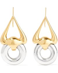 Ellery - Cookie Lasso Gold And Silver-plated Earrings - Lyst