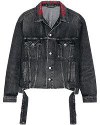 Balenciaga - Oversized Embroidered Denim Jacket - Lyst