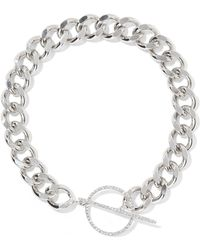 Isabel Marant - Silver-plated Crystal Choker - Lyst