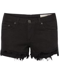 Rag & Bone - Frayed Cut-off Denim Shorts - Lyst