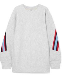 Facetasm - Embroidered Ribbed-trimmed Jersey Sweatshirt - Lyst