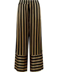 By Malene Birger | Brinni Striped Satin Wide-leg Pants | Lyst