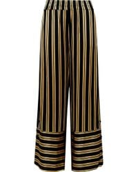 By Malene Birger - Brinni Striped Satin Wide-leg Trousers - Lyst