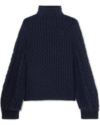 Victoria, Victoria Beckham Cable-knit Turtleneck Sweater