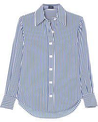 JOSEPH - Garcon Striped Silk Crepe De Chine Shirt - Lyst