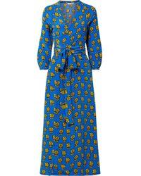 Rhode Resort - Robe Portefeuille En Crêpe De Chine De Soie Imprimé Jagger - Lyst