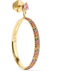Yvonne Léon - 18-karat Gold Sapphire Earring - Lyst