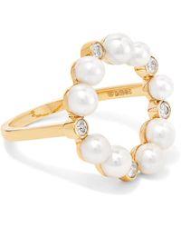 Anissa Kermiche - Rond De Perle 18-karat Gold, Diamond And Pearl Ring - Lyst