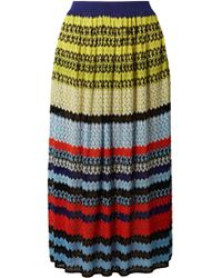 Missoni - Striped Crochet-knit Midi Skirt - Lyst