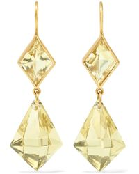 Marie-hélène De Taillac - 22-karat Gold Quartz Earrings - Lyst