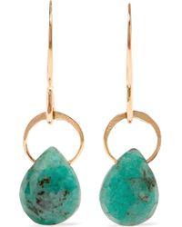 Melissa Joy Manning | 14-karat Gold Emerald Earrings | Lyst