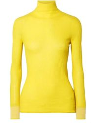 Victoria, Victoria Beckham - Ribbed Wool Turtleneck Sweater - Lyst