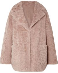 Brunello Cucinelli - Reversible Shearling Coat - Lyst