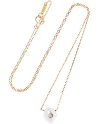 Mizuki - 14-karat Gold, Pearl And Diamond Necklace - Lyst
