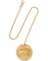Alighieri - Il Leone Medallion Gold-plated Necklace Gold One Size - Lyst
