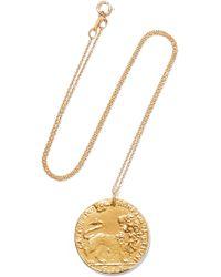 Alighieri - Il Leone Medallion Vergoldete Kette - Lyst