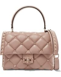 Valentino - Garavani Candystud Small Quilted Leather Shoulder Bag - Lyst