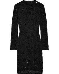 Needle & Thread - Monoliet Embellished Chiffon Mini Dress - Lyst