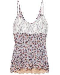 Chloé - Floral-print Lace Camisole - Lyst