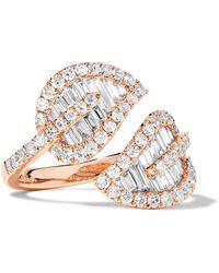 Anita Ko | Leaf 18-karat Rose Gold Diamond Ring | Lyst