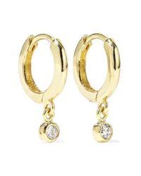 Jennifer Meyer - Huggies 18-karat Gold Diamond Earrings - Lyst