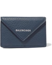 Balenciaga - Papier Mini Printed Textured-leather Wallet - Lyst