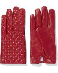 Valentino - Garavani The Rockstud Leather Gloves - Lyst