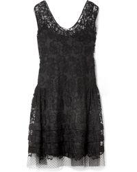 Miu Miu | Embroidered Cotton-blend Lace Dress | Lyst