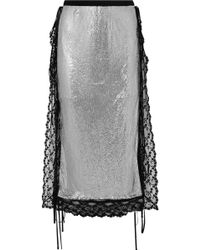 Christopher Kane - Chain Mail And Lace Skirt - Lyst