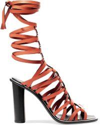 Altuzarra - Pont Lace-up Leather Sandals - Lyst
