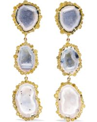 Kimberly Mcdonald - 18-karat Gold, Geode And Diamond Earrings - Lyst