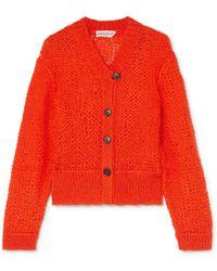 Sonia Rykiel - Open-knit Mohair-blend Cardigan - Lyst