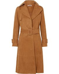 Vince - Suede Trench Coat - Lyst